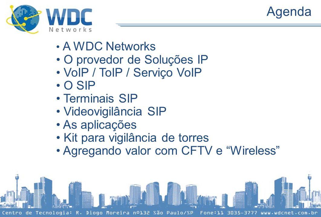 Agenda O provedor de Soluções IP VoIP / ToIP / Serviço VoIP O SIP