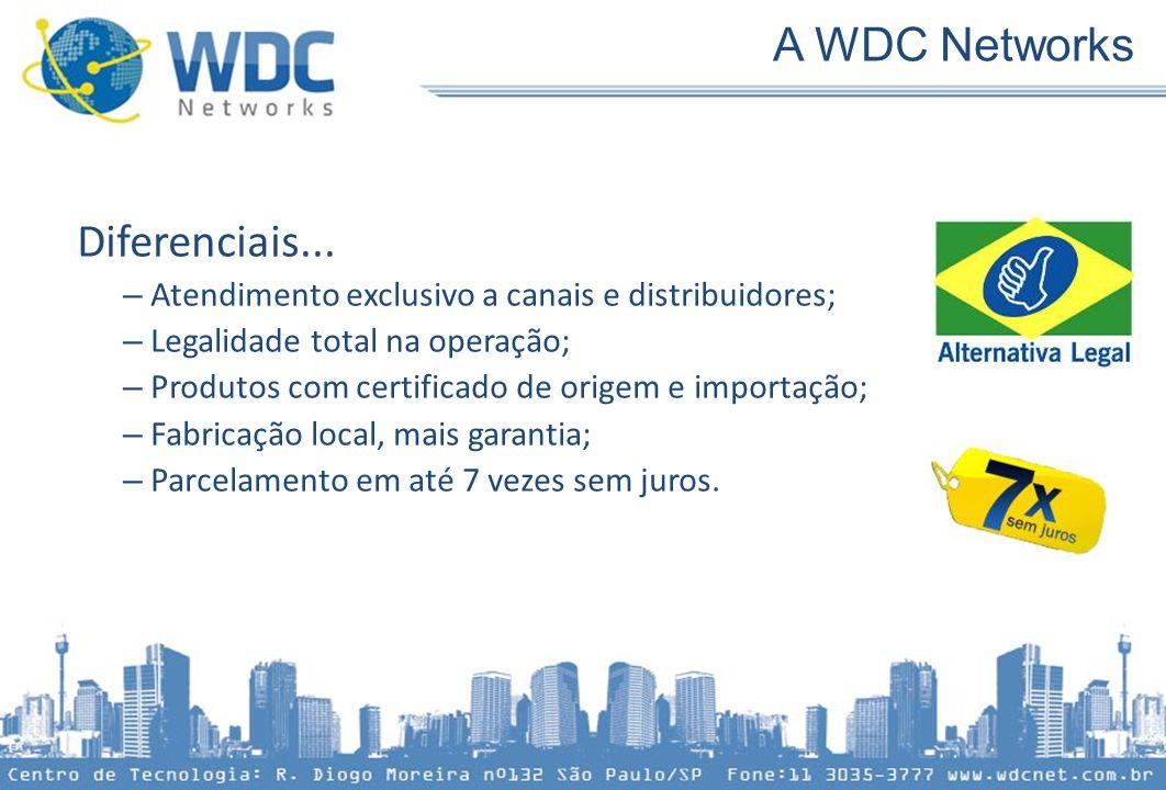 A WDC Networks Diferenciais...