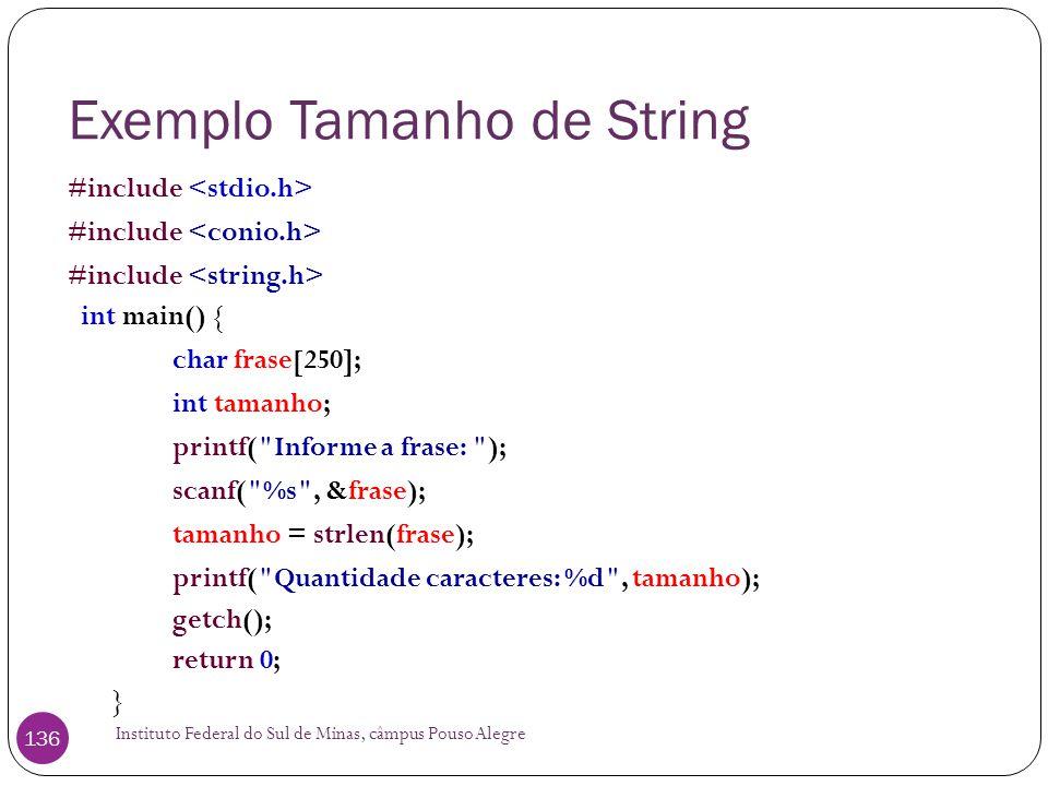 Exemplo Tamanho de String