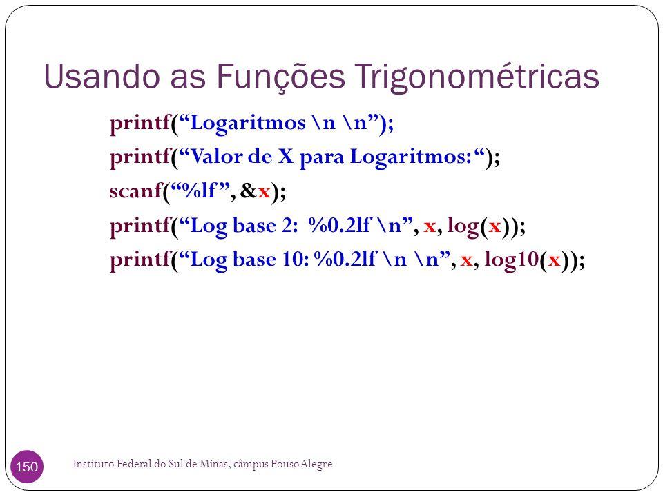 Usando as Funções Trigonométricas