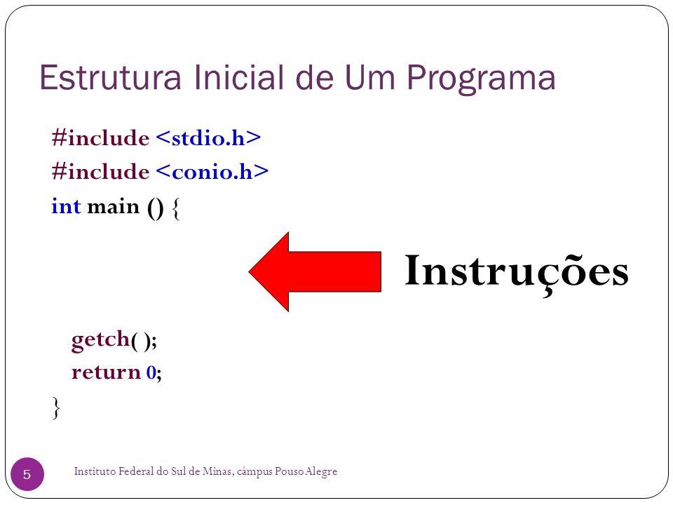 Estrutura Inicial de Um Programa