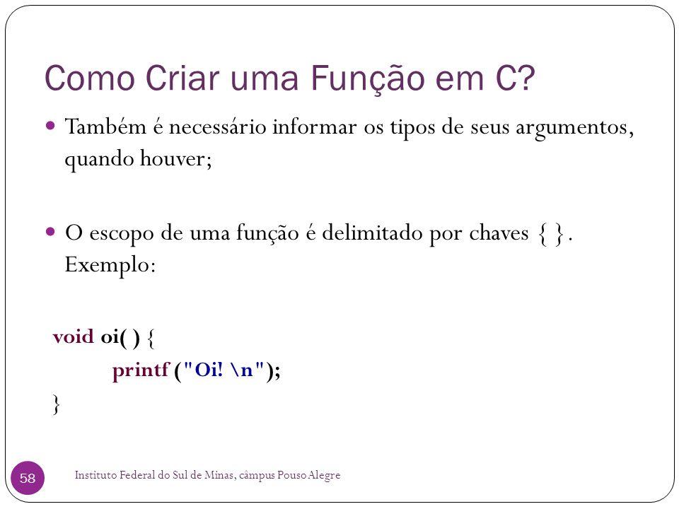 Como Criar uma Função em C