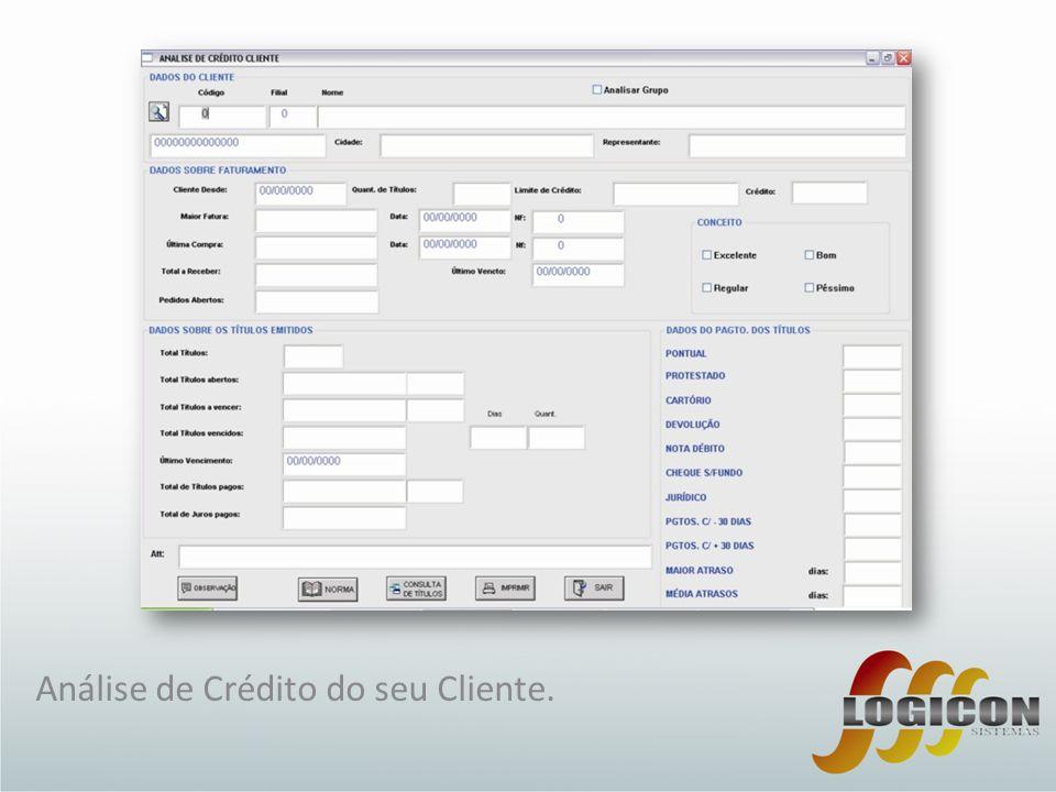 Análise de Crédito do seu Cliente.