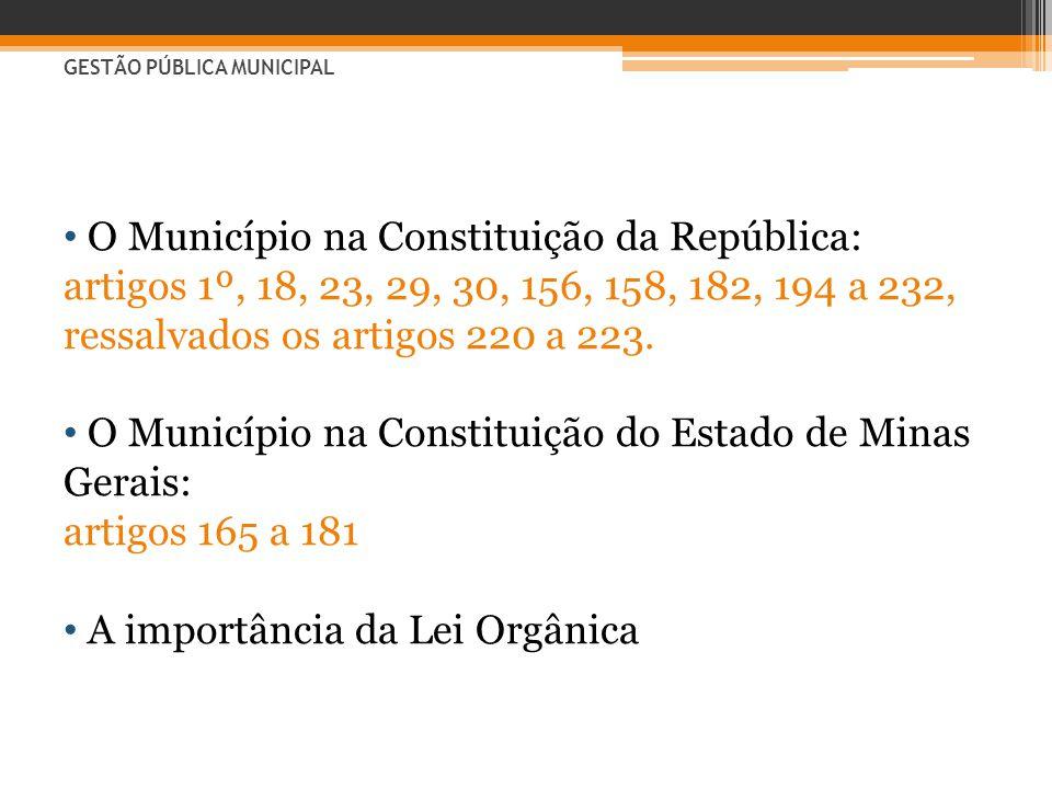 O Município na Constituição da República: