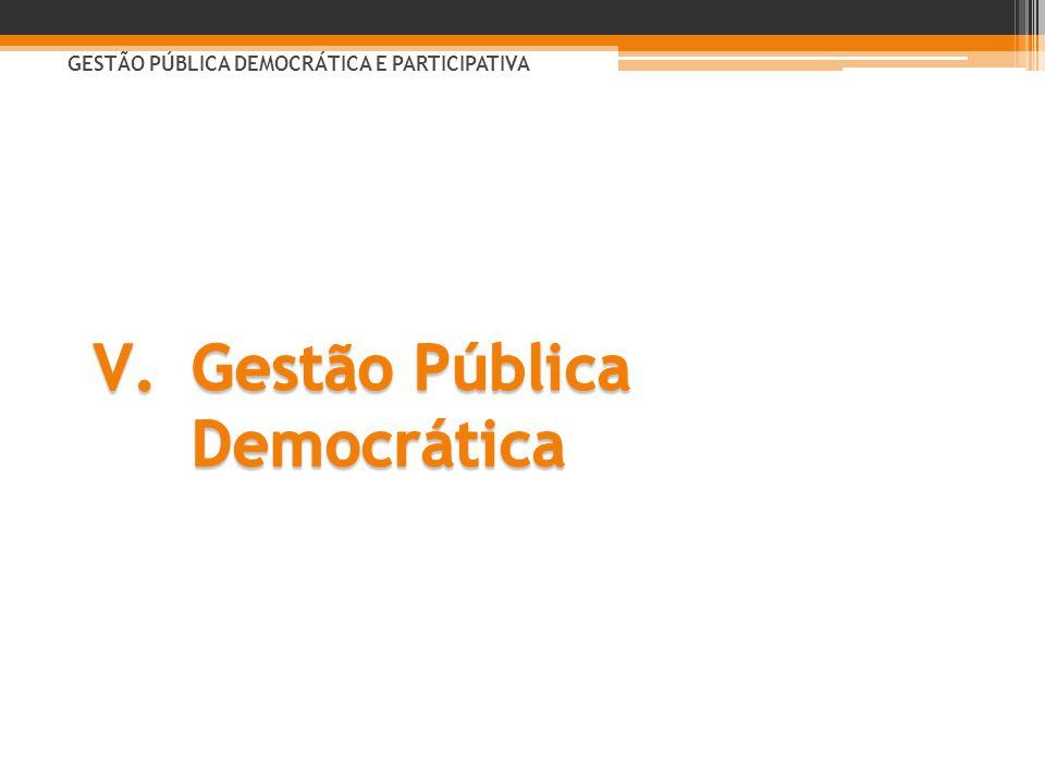 Gestão Pública Democrática
