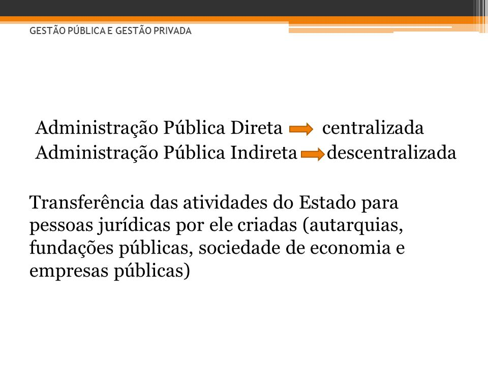 Administração Pública Direta centralizada