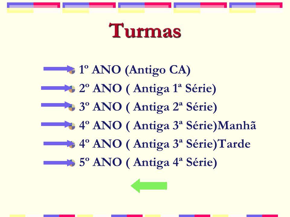 Turmas 1º ANO (Antigo CA) 2º ANO ( Antiga 1ª Série)