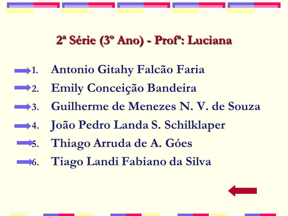 2ª Série (3º Ano) - Profª: Luciana