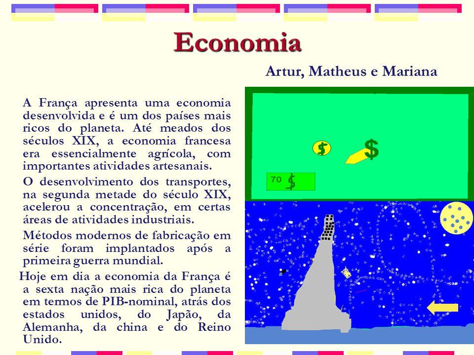 Economia Artur, Matheus e Mariana