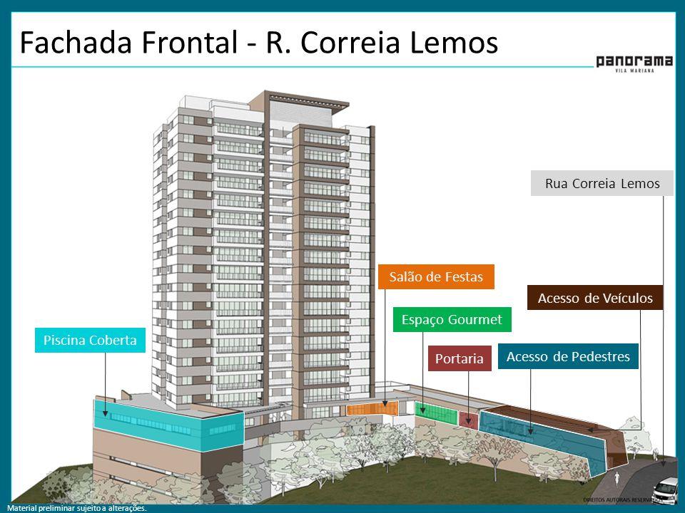 Fachada Frontal - R. Correia Lemos