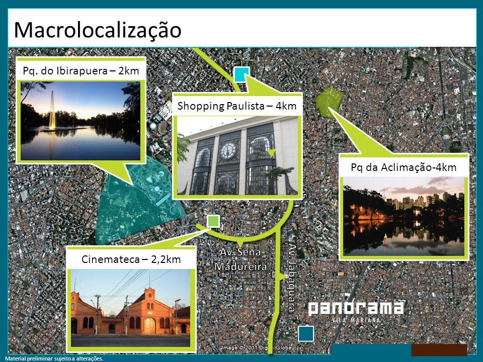 Macrolocalização Pq. do Ibirapuera – 2km Shopping Paulista – 4km