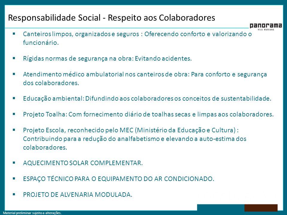 Responsabilidade Social - Respeito aos Colaboradores