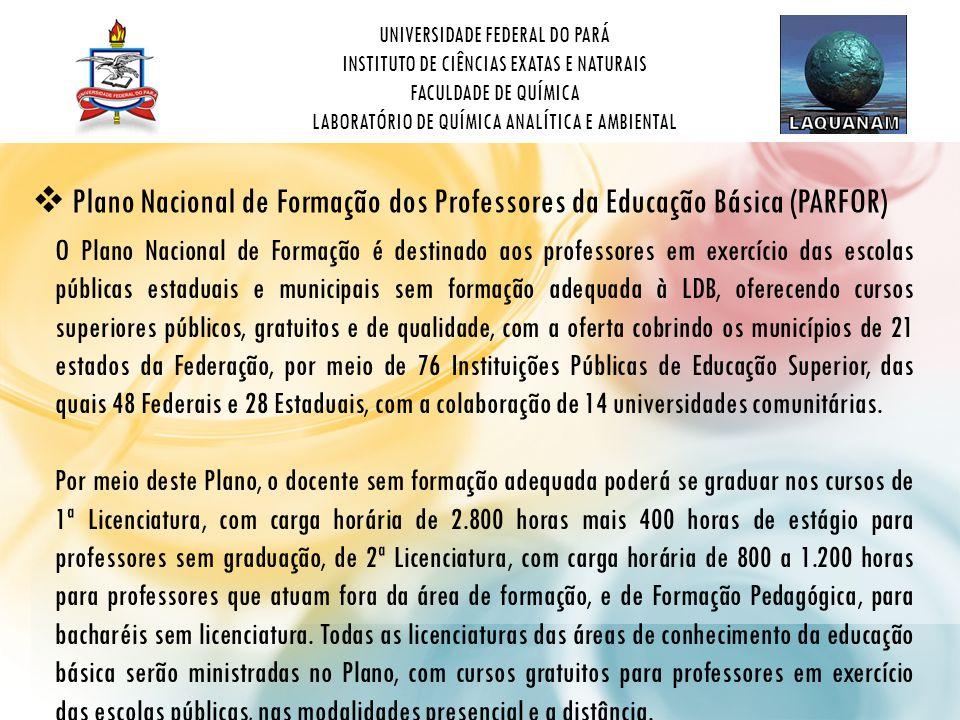 Plano Nacional de Formação dos Professores da Educação Básica (PARFOR)