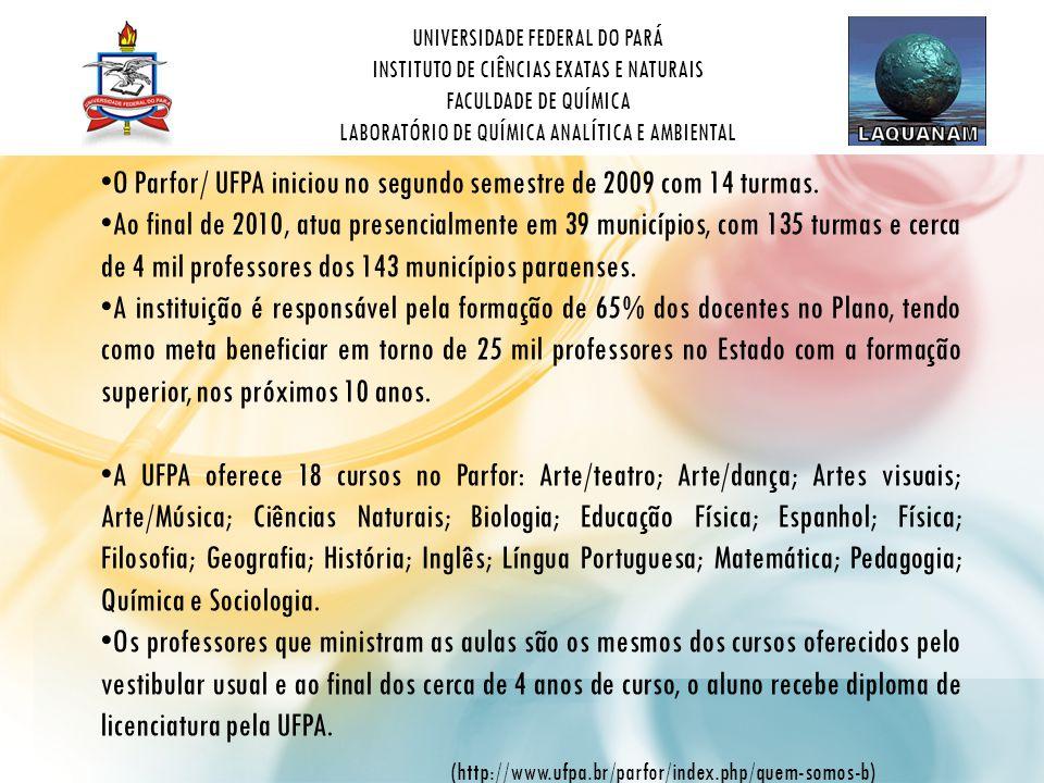 O Parfor/ UFPA iniciou no segundo semestre de 2009 com 14 turmas.