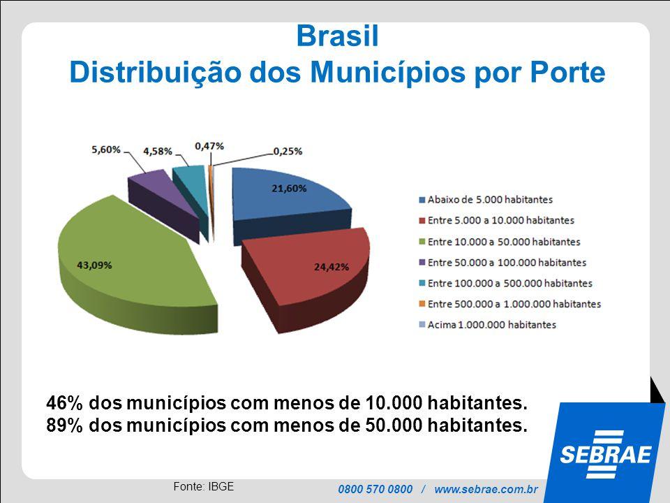 Distribuição dos Municípios por Porte