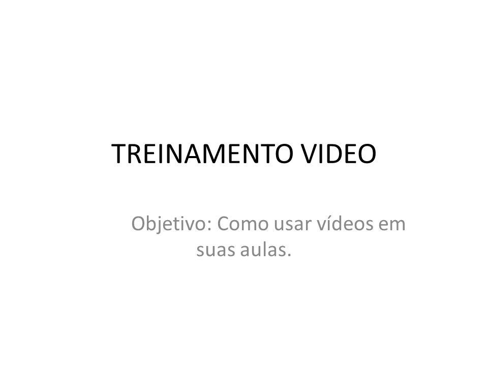 Objetivo: Como usar vídeos em suas aulas.