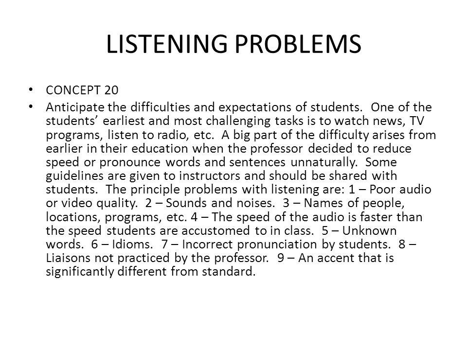 LISTENING PROBLEMS CONCEPT 20