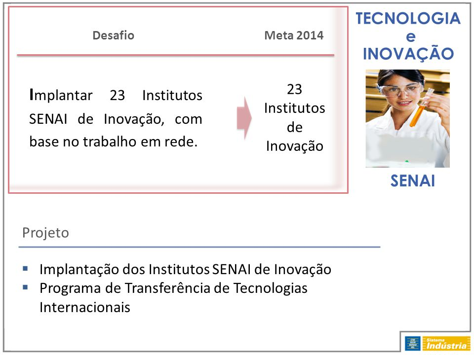 23 Institutos de Inovação