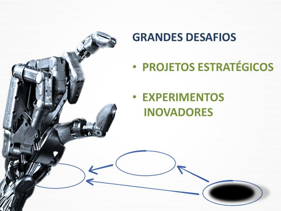 GRANDES DESAFIOS PROJETOS ESTRATÉGICOS EXPERIMENTOS INOVADORES