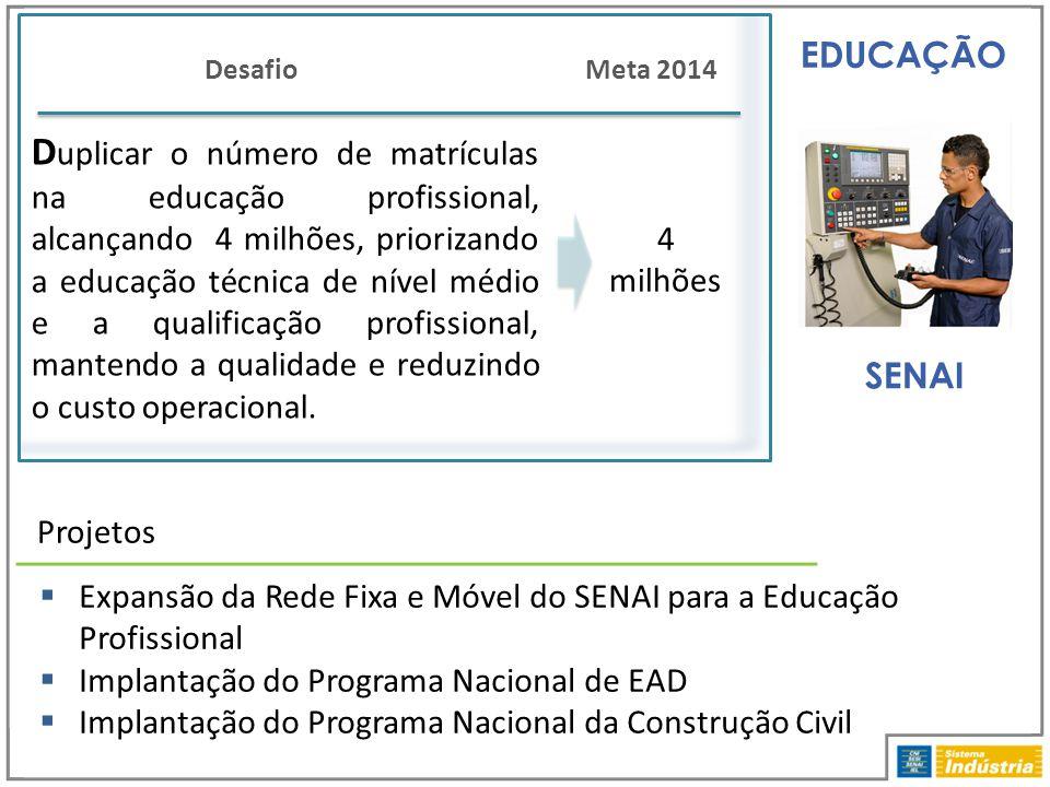 EDUCAÇÃO Desafio. Meta 2014.