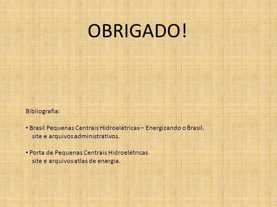 OBRIGADO! Bibliografia: