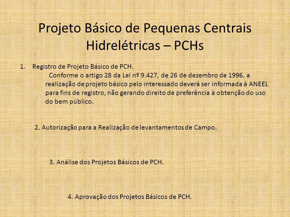 Projeto Básico de Pequenas Centrais Hidrelétricas – PCHs