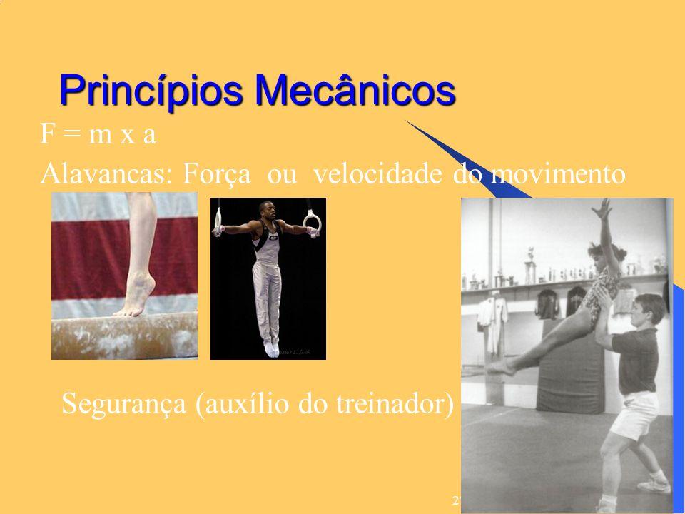 Princípios Mecânicos F = m x a