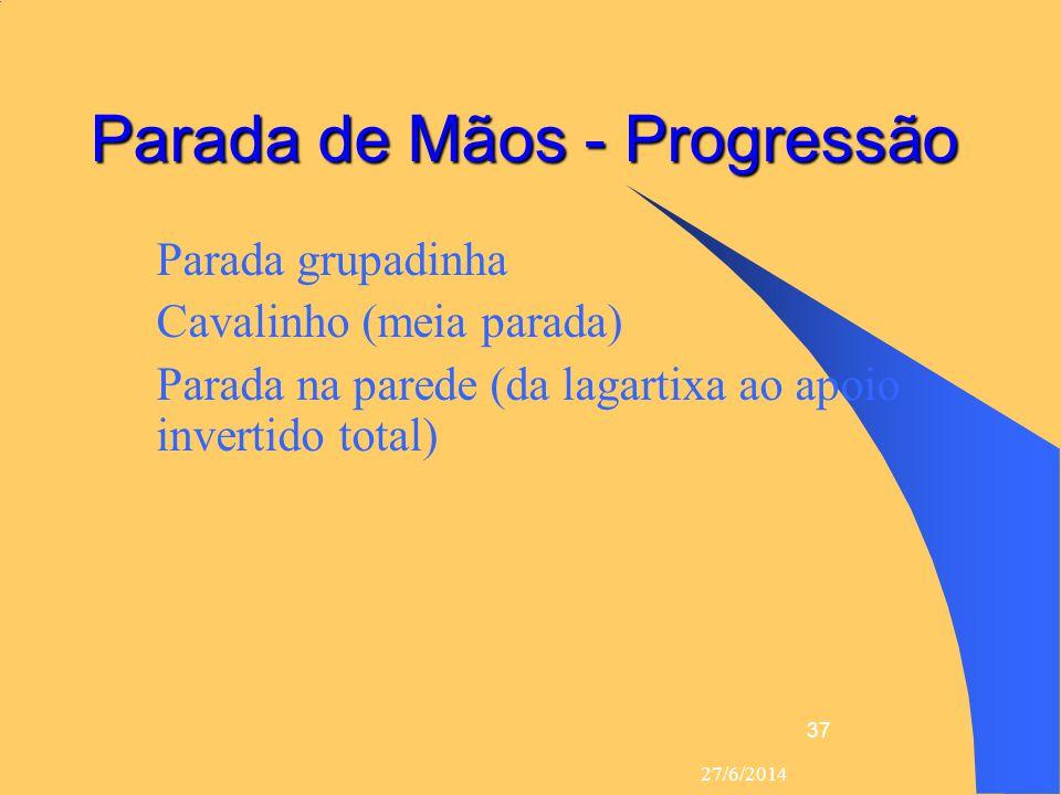 Parada de Mãos - Progressão