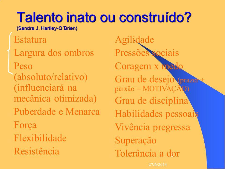Talento inato ou construído (Sandra J. Hartley-O´Brien)
