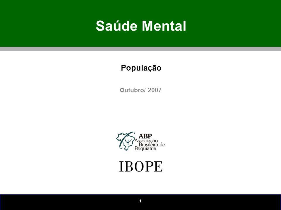 Saúde Mental População Outubro/ 2007