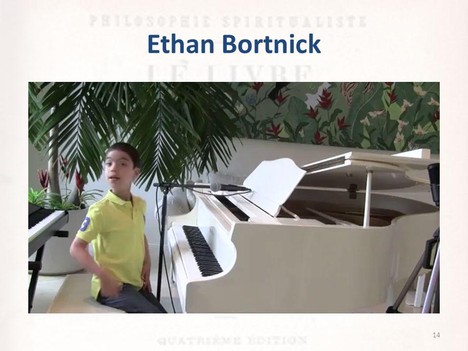 Ethan Bortnick Começou a tocar do nada ao três anos de idade, uma sonata de Mozart