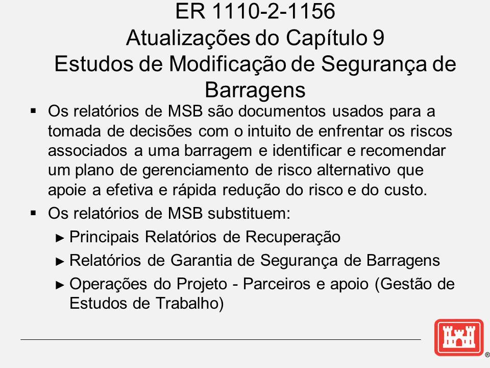 ER 1110-2-1156 Atualizações do Capítulo 9 Estudos de Modificação de Segurança de Barragens