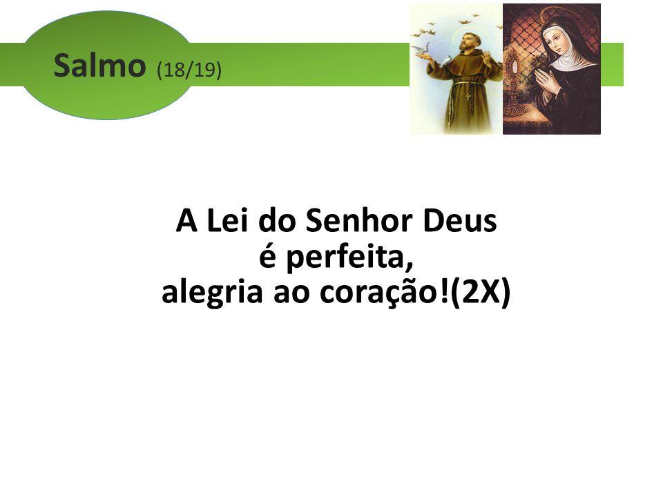 Salmo (18/19) A Lei do Senhor Deus é perfeita, alegria ao coração!(2X)
