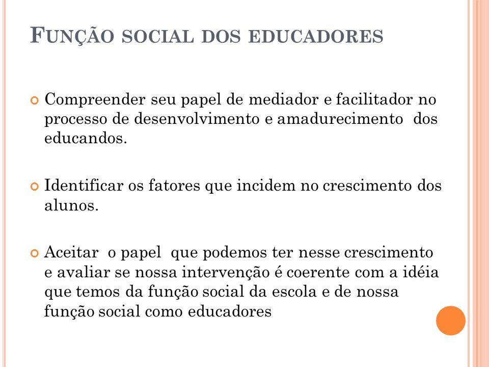 Função social dos educadores