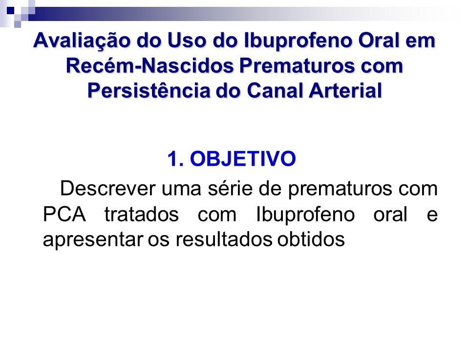 Avaliação do Uso do Ibuprofeno Oral em Recém-Nascidos Prematuros com Persistência do Canal Arterial