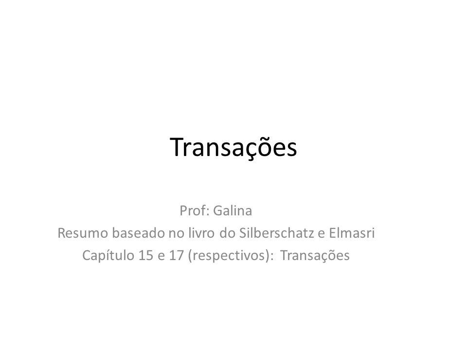 Transações Prof: Galina
