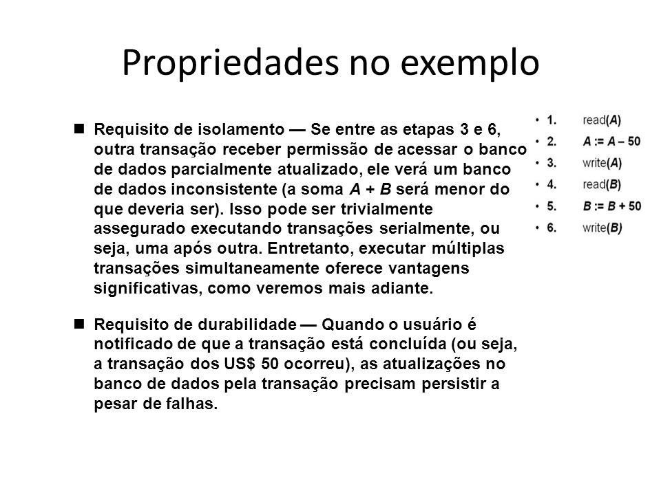 Propriedades no exemplo