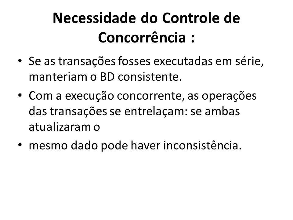 Necessidade do Controle de Concorrência :