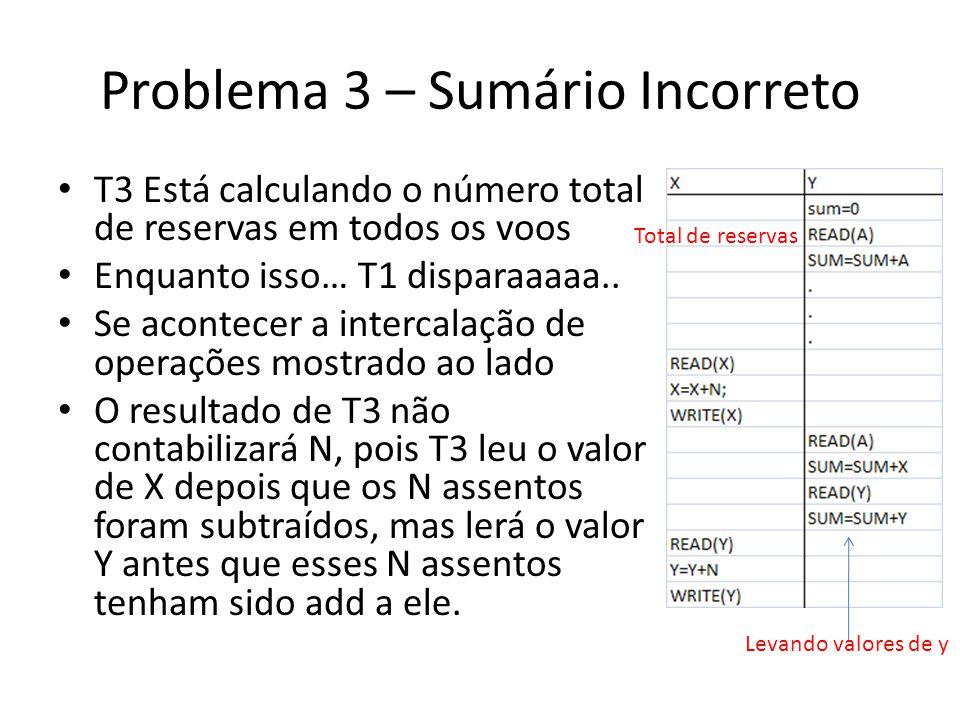 Problema 3 – Sumário Incorreto