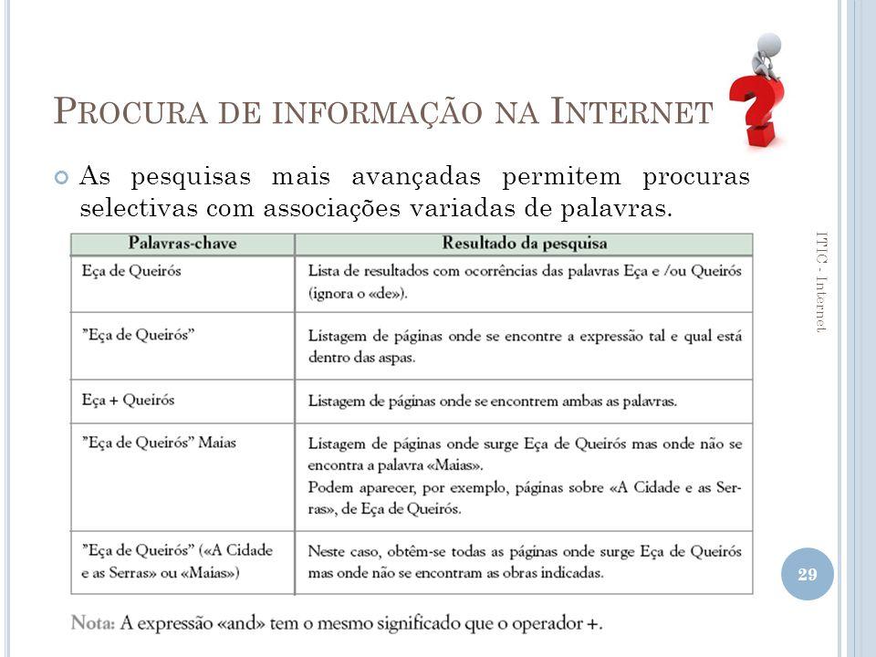 Procura de informação na Internet