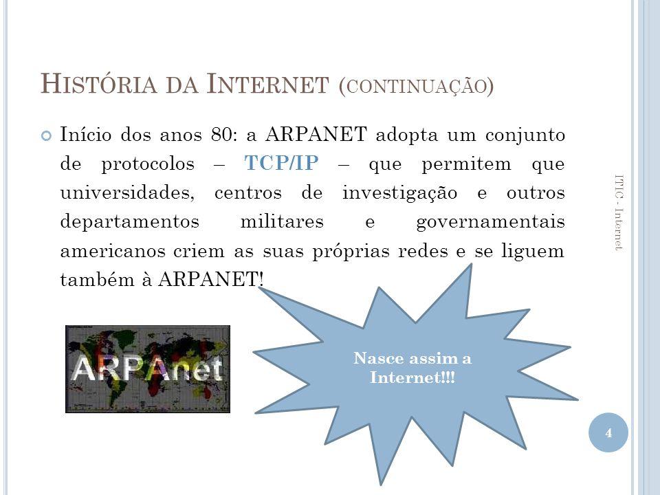 História da Internet (continuação)