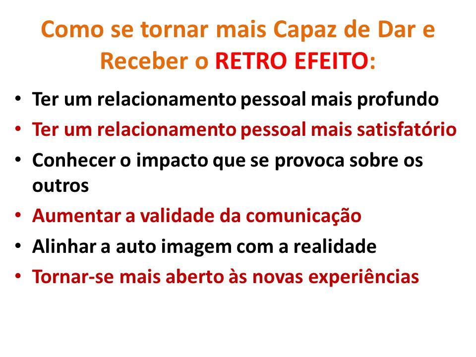 Como se tornar mais Capaz de Dar e Receber o RETRO EFEITO: