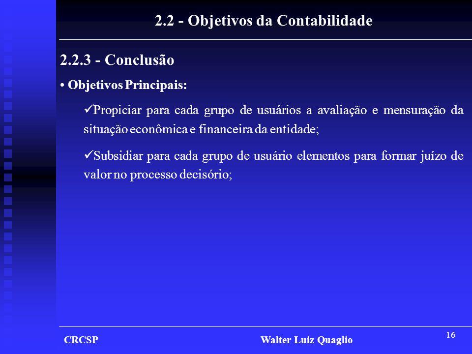 2.2 - Objetivos da Contabilidade