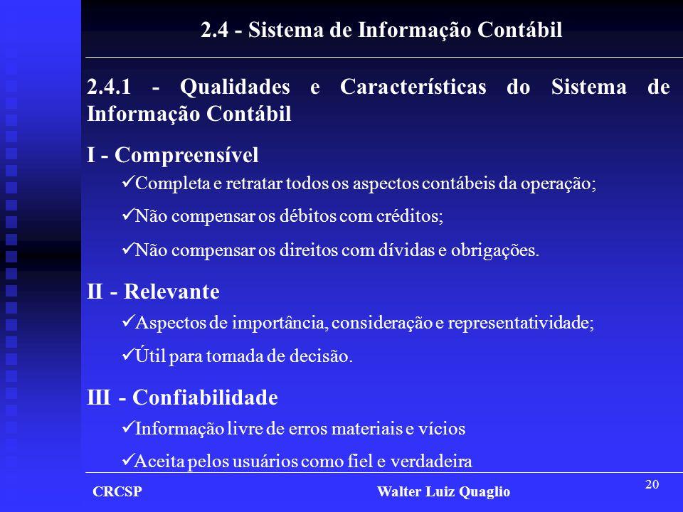 2.4 - Sistema de Informação Contábil