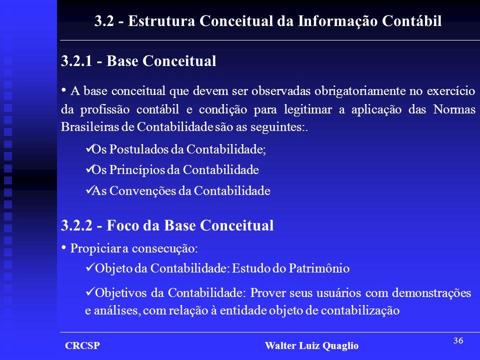 3.2 - Estrutura Conceitual da Informação Contábil