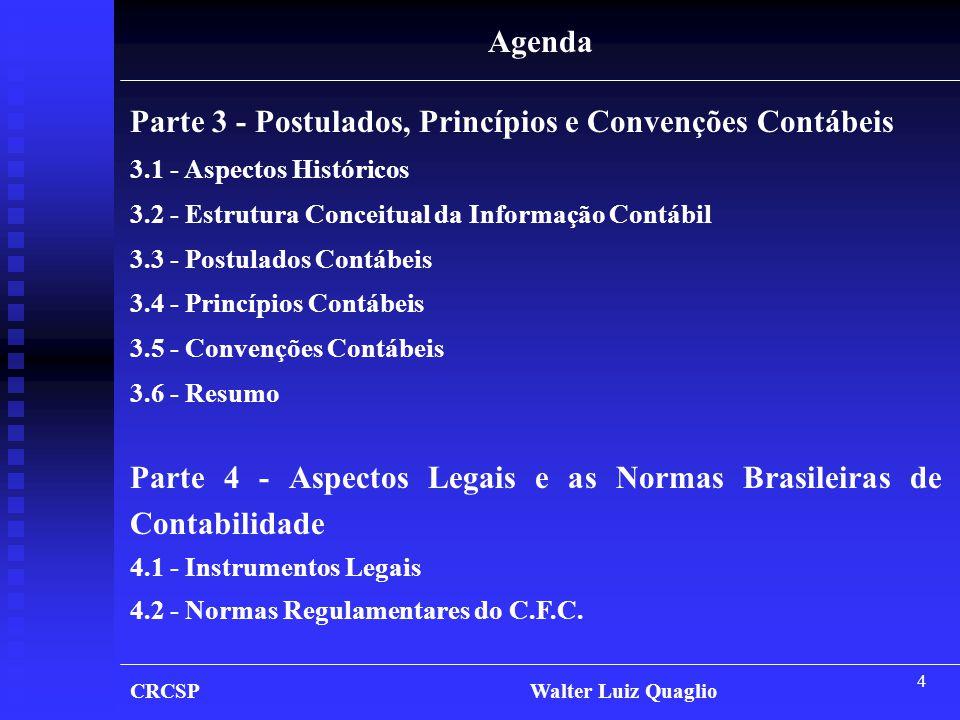 Parte 3 - Postulados, Princípios e Convenções Contábeis