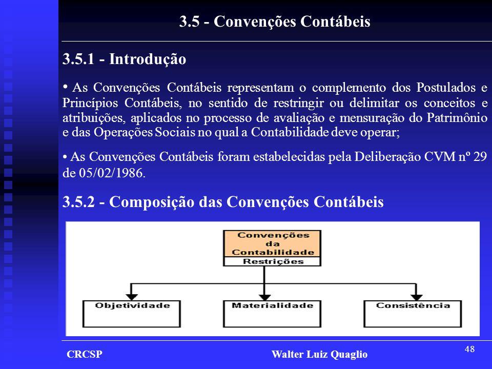 3.5 - Convenções Contábeis