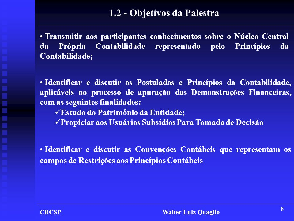 1.2 - Objetivos da Palestra