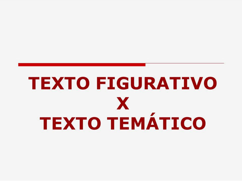 TEXTO FIGURATIVO X TEXTO TEMÁTICO