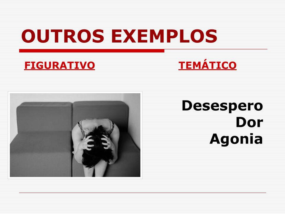 OUTROS EXEMPLOS FIGURATIVO TEMÁTICO Desespero Dor Agonia
